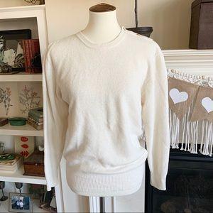 Cashmere! Neimann Marcus Cream Sweater - EUC